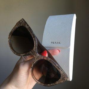 RARE Prada LACE Heritage Cat Sunglasses
